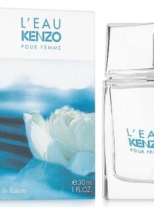 Kenzo l'eau kenzo pour femme туалетная вода 30мл