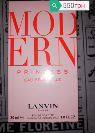 Lanvin modern princess eau sensuelle туалетная вода 30мл
