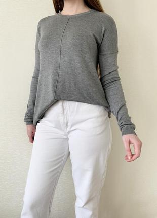Кофта, пуловер, джемпер, лонгслив, серый, сірий, atmosphere