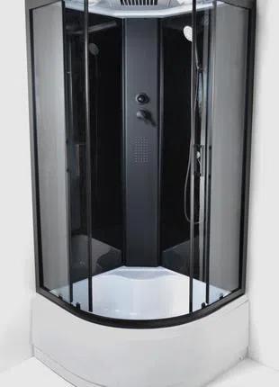 Душевой бокс Eco 95 RC NERO глубокий поддон 90х90