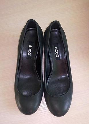 Туфли черные нубук ECCO  36р.