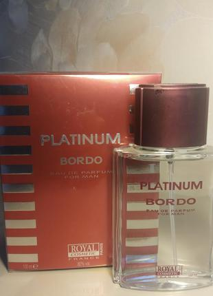 Platinum bordo парфюмерная вода для мужчин 100мл