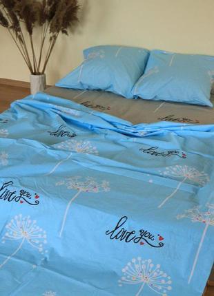 Комплект постельного белья одуванчики двуспальный евро