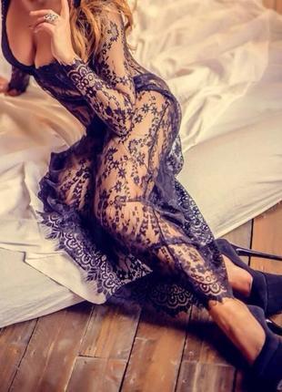 Кружевное платье, пеньюар для фотосессий или просто для дома, ...
