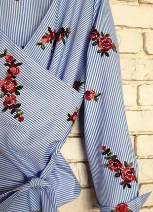 Блуза с вышивкой р.46-48