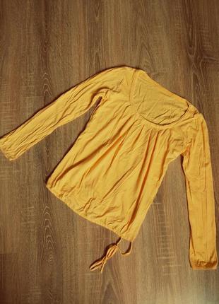 Коттоновая желтая блуза от bershka