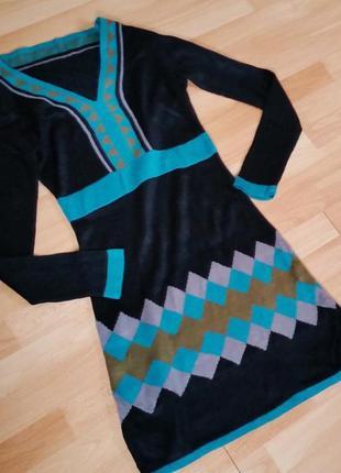 Новое женское вязаное платье.