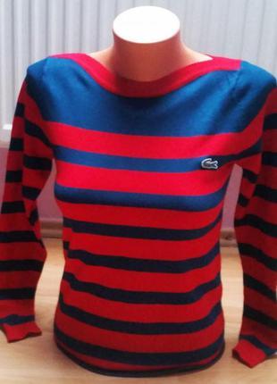 Новый женский свитер lacoste.