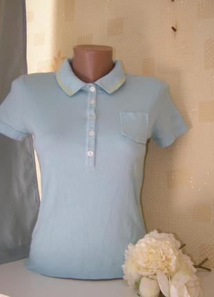 Marccain футболка поло хлопок-еластан s-m-размер