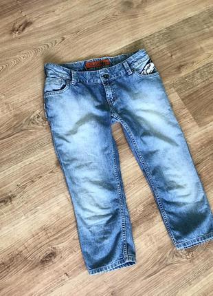 Новые фирменные джинсовые бриджи.