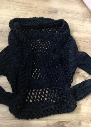 Новый женский свитер накидка. италия.