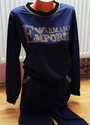 Новый женский спортивный костюм armani jeans.