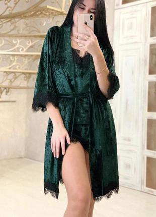 Новая женская пижама тройка.