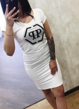 Новое женское платье philipp plein.