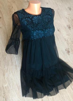 Новое женское платье с шифоном.