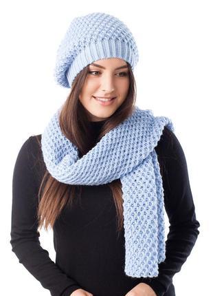 Новый женский комплект, шапка и шарф.