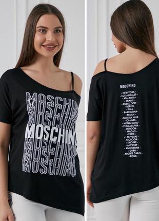 Новая женская футболка с модным узором из страз.