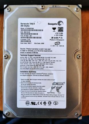 Жесткий диск HDD 250Gb SATA Barracuda 7200.8 ST3250823A8