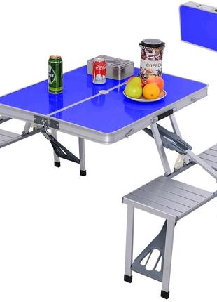 Алюминиевый туристический стол для пикника раскладной со стульями