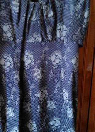 Платье темно синее с серым  к новому году