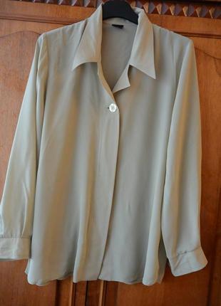 Элегантная блуза шикарного оливкового цвета