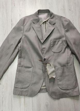Распродажа до 30 июня 🔥 мужской серый пиджак с нашывними карма...