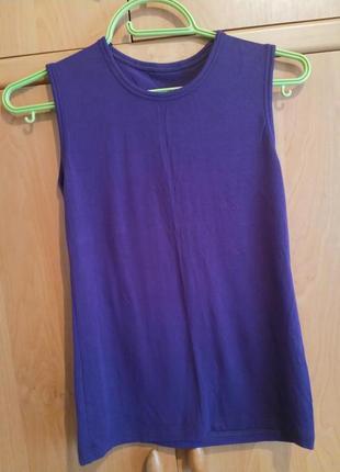 Майка насыщенного фиолетового цвета