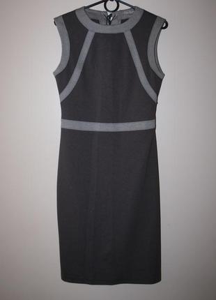 Платье миди футляр со шнуровкой на спине, р. м