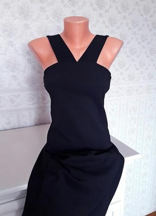 Шикарное черное платье футляр zara, р. м