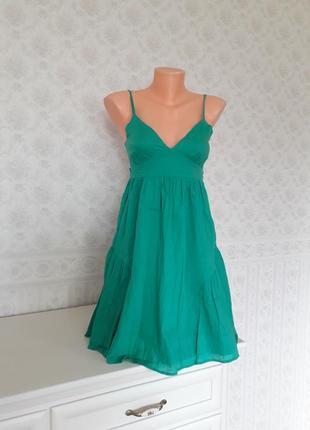 Яркое платье, сарафан из хлопка topshop, р. 36