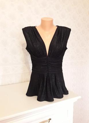 Вечерняя блуза, топ с блестками, р. м-l