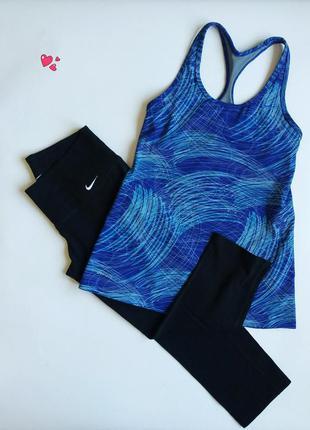 Комплект nike спортивный бриджи и майка, одежда для фитнеса