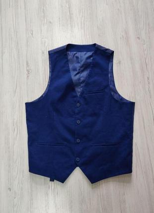 🎈нас 10 тысяч🎈happy sale🎁   синяя мужская жилетка с сатиновой ...