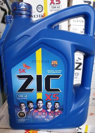ZIC X5 10W-40 6л полусинтетика моторное масло 10w40