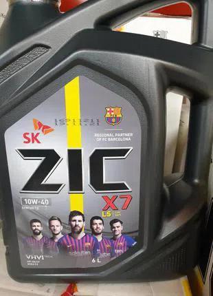 ZIC X7 LS 10W-40 6л синтетика моторное масло 10w40