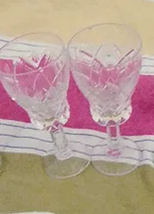 Фужеры мими Чешского и богемского стекла