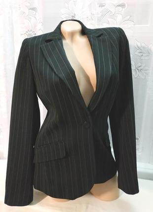 Sale стильный пиджак черный в полоску new look