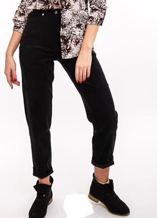 Крутые вельветовые брюки штани с высокой талией