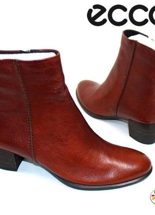 Ecco кожаные ботинки 38 р 41 р дания оригинал