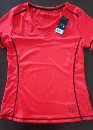 Спортивная футболка, майка с декоративными швами, одежда для ф...