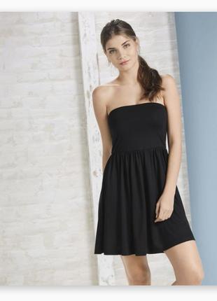 Трикотажное платье-бюстье без бретелей, молодежная одежда