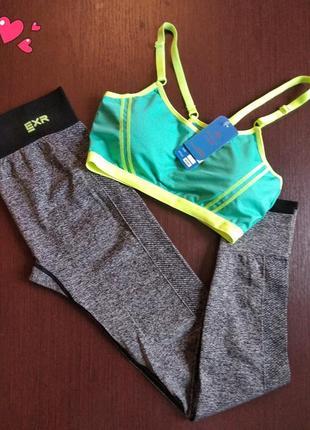 Леггинсы,лосины   топ комплект для спорта, одежда для фитнеса