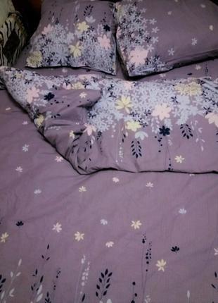 2х-спальный комплект постельного белья  «Серый аметист» (ранфорс)