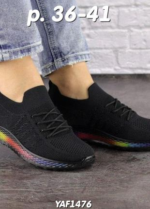 Новые женские кроссовки, черные, весна, лето, осень, р. 36-41