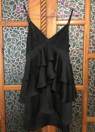 Платье на бретелях , коктейльное платье, сарафан чёрный, вечер...