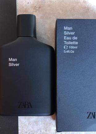 Духи zara silver/парфюм/туалетная вода/парфуми/туалетная вода