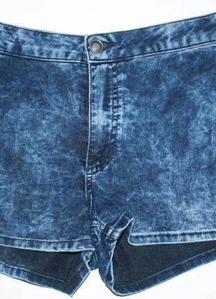 Шорты стрейчевые синие варенки джинс с высокой посадкой hotpan...