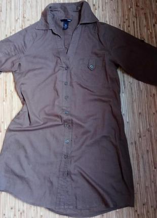 Туника рубашечного типа,одежда в стиле кэжуал