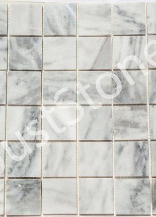 Серая Мраморная Мозаичная плитка Полированная МКР-3П (47х47)