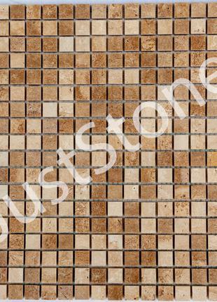 Мозаика из травертина Полированная МКР-4П (15х15)